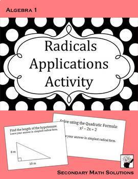 Radicals Applications Activity (Amazing Race)