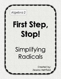 Radicals Activity: First Step, Stop!
