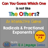 Radicals & Fractional Exponents - Can you guess which one? Game I