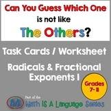 Radicals & Fractional Exponents I - Can you guess which on