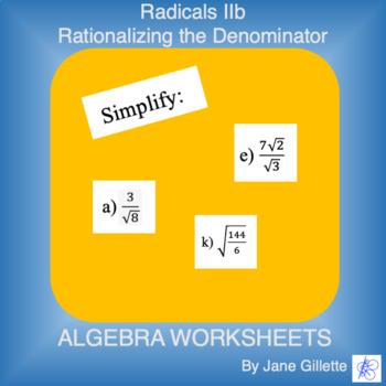 Radicals IIb - Simplifying