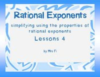 Radicals Lesson 4 Rational Exponents (notes)