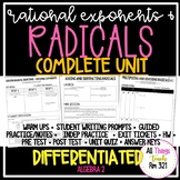 Radicals: No PREP Complete Unit + Differentiated + Answer Keys