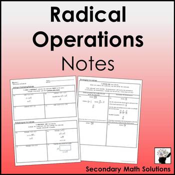 Operations on Radicals Notes