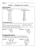 Radicals Regents Review (Notes & Practice Questions)