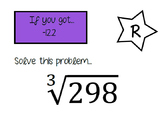 Radicals Scavenger Hunt (Square roots & cube roots)