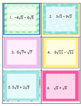 Powers real numbers - Simplifying Radicals Worksheet or Assessment W TASK crds