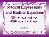 Radical Expressions Study Guide - graphic organizer