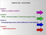 Radicals Unit (Lessons 1 - 4)  Smart Board Teaching Assistant
