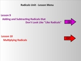 Radicals Unit (Lessons 9 - 10) Smart Board Teaching Assistant