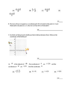 Radicals and Geometry Test A