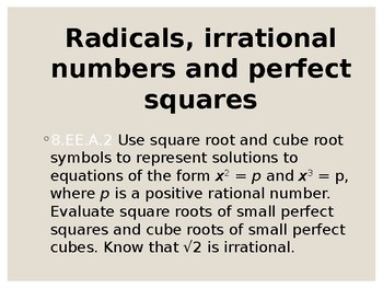 Radicals and Pythagorean Theorem
