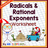 Rational Exponents and Radicals Worksheet