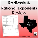 Radicals and Rational Exponents Review (A11A, A11B)