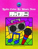 Radio Color By Music Note Rhythm Coloring