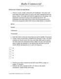 Radio Commercial Activity Template and Rubric