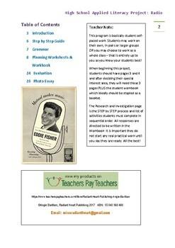 Radio High School Literacy Project