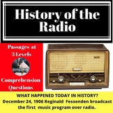 Radio History Differentiated Passage & Comprehension Quest
