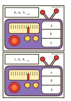 Radio Next Number Clip Cards