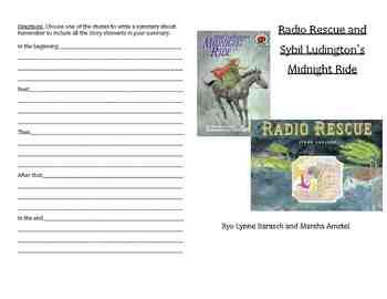 Radio Rescue and Sybil Ludington's Midnight Ride Activity Booklet