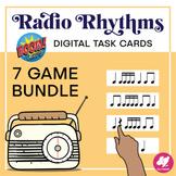 Radio Rhythms: Digital Rhythm Task Cards - Boom Card Bundl