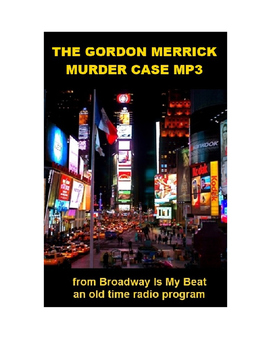 Radio Show mp3 - The Gordon Merrick Murder Case