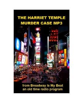 Radio Show mp3 - The Harriet Temple Murder Case