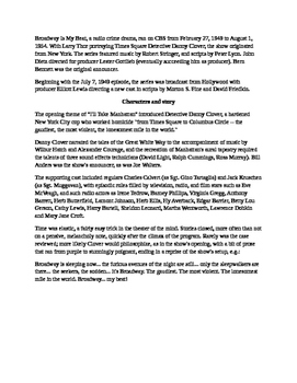 Radio Show mp3 - The Lois Burton Murder Case