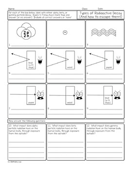 radioactivity worksheet physical science radioactivity best free printable worksheets. Black Bedroom Furniture Sets. Home Design Ideas