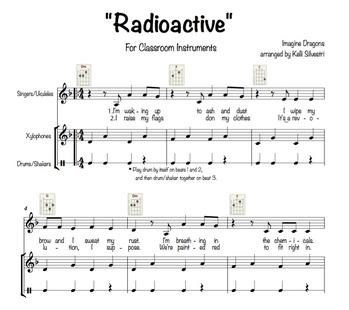 """Radioactive"" (Imagine Dragons) for Classroom Instruments"