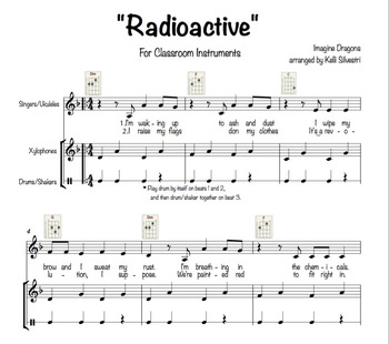 """Radioactive"" (Imagine Dragons) for Classroom Instruments"