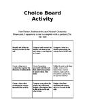 Radioactivity Choice Board