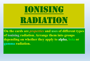 Radioactivity card sort activity fun!