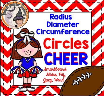 Circles Radius Diameter Circumference CHEER Animated Gif Smartboard Pdf Word