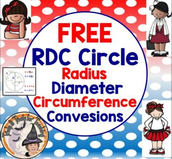 FREE Radius Diameter Circumference RDC Circle for Converting Conversions CIrcles
