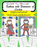 Radius and Diameter of Circles Differentiated Color by Answer Fun Pages