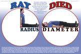 Radius vs. diameter poster