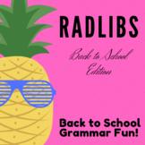 Back to School Radlibs Full Product
