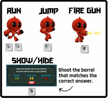 Radly the Readbot - Vocabulary, Inferences (Playable at RoomRecess.com)