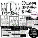 Rae Dunn Farmhouse Style Classroom Decor & Syllabus GROWING BUNDLE