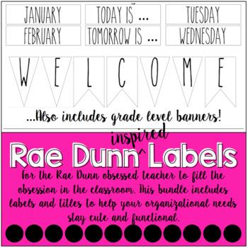 Rae Dunn Classroom Labels