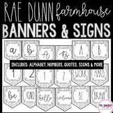 Rae Dunn Farmhouse Shiplap Banner - Alphabet, Numbers, Quotes, Signs, Prefix's