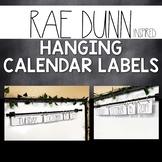 Rae Dunn Hanging Calendar Labels