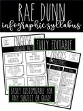Rae Dunn Infographic Syllabus: COMPLETELY CUSTOMIZABLE FOR ANY GRADE!