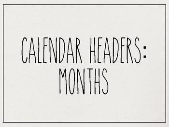 Rae Dunn Inspired Calendar Set