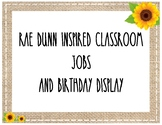 Rae Dunn Inspired Classroom Jobs and Birthday Chart