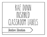 Rae Dunn Inspired Classroom Labels
