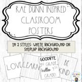 Rae Dunn Inspired Classroom Posters - Shiplap/ Farmhouse Theme