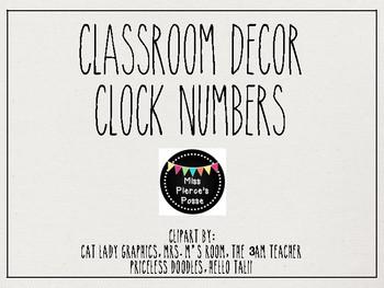 Rae Dunn Inspired Clock Numbers