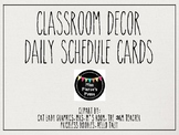 Rae Dunn Inspired Daily Schedule Cards